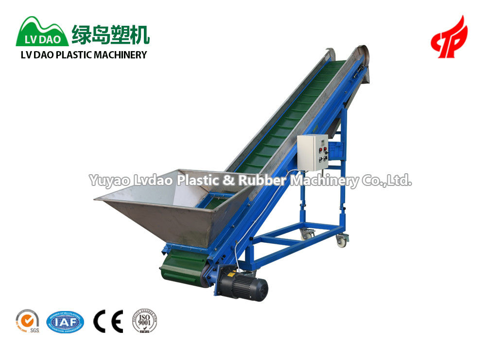 Blue Color Plastic Conveyor System Magnetic Conveyor System CE ISO Certification